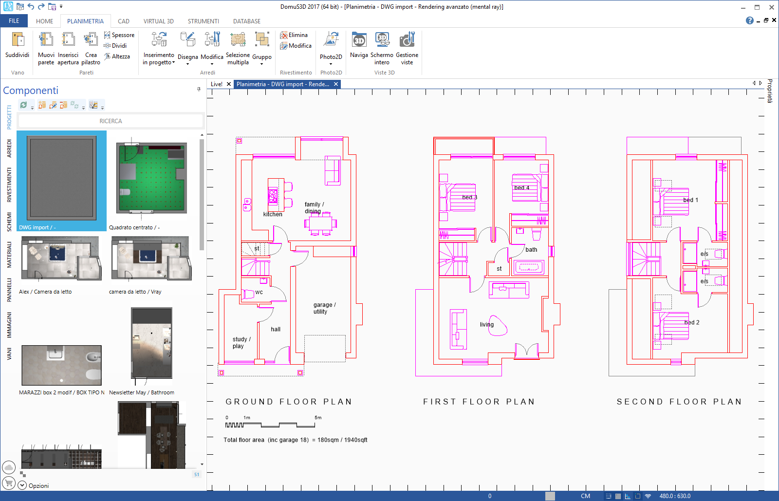 Import plan from a DWG (DXF) file – DomuS3D Online Support