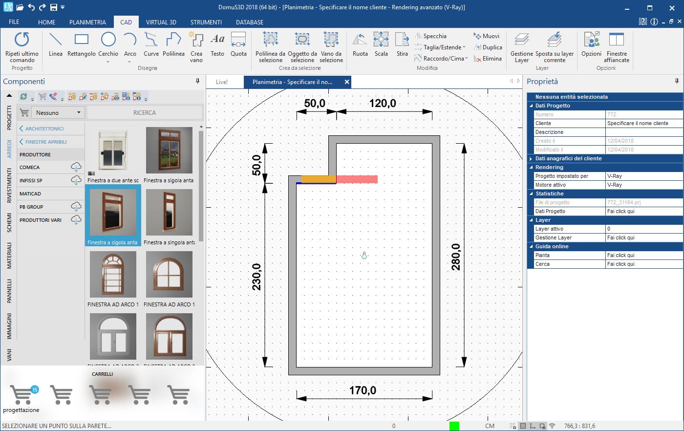 Inserimento di una finestra o di una porta in una parete for Porta finestra dimensioni